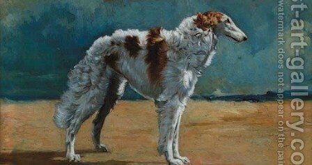 A borzois by (after) Mabel Gear - Reproduction Oil Painting