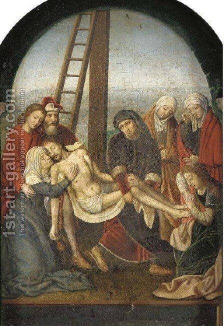 The Deposition by (after) Marcellus Coffermans - Reproduction Oil Painting