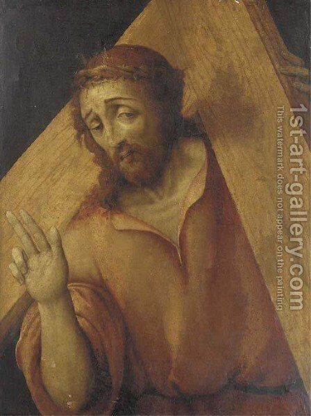 Christ carrying the Cross by (after) Marco Palmazzano - Reproduction Oil Painting