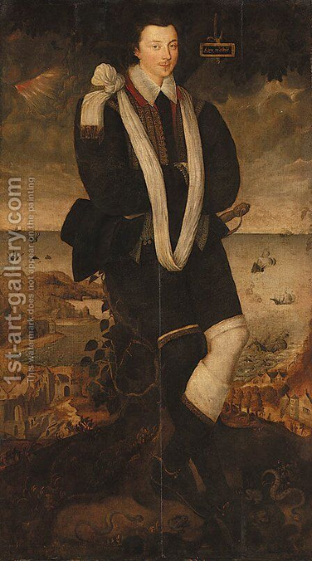 Portrait of a Gentleman by (after) Marcus The Younger Gheeraedts - Reproduction Oil Painting