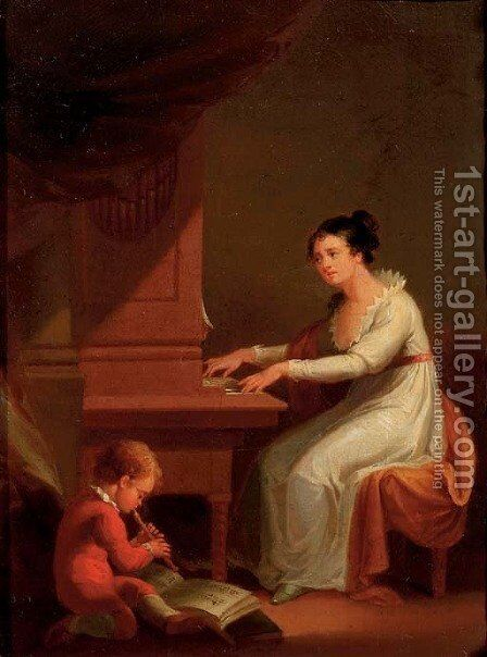 Sweet harmony by (after) Marguerite Gerard - Reproduction Oil Painting
