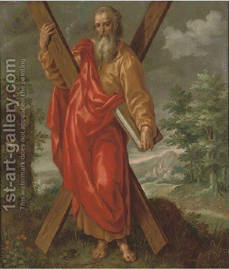 Saint Andrew by (after) Maarten De Vos - Reproduction Oil Painting
