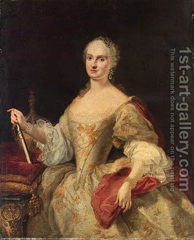 Portrait of a lady by (after) Martin II Mytens Or Meytens - Reproduction Oil Painting