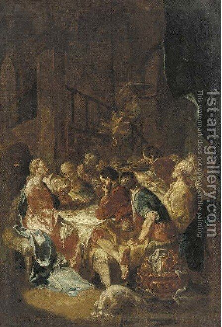 The Last Supper by (after) Martin Johann Schmidt - Reproduction Oil Painting