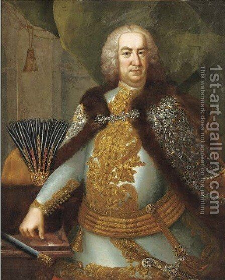 Portrait of Count Ferenc Esterhazy, Chancellor of Hungary and Ban of Croatia by (circle of) Mytens-Meytens, Martin II - Reproduction Oil Painting