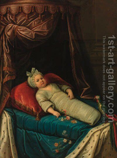 Portrait of a child, said to be The Enfant de France by Circle Of Martin Van Mytens - Reproduction Oil Painting