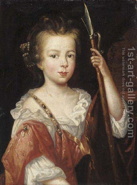 Portrait of a girl by (after) Mary Beale - Reproduction Oil Painting