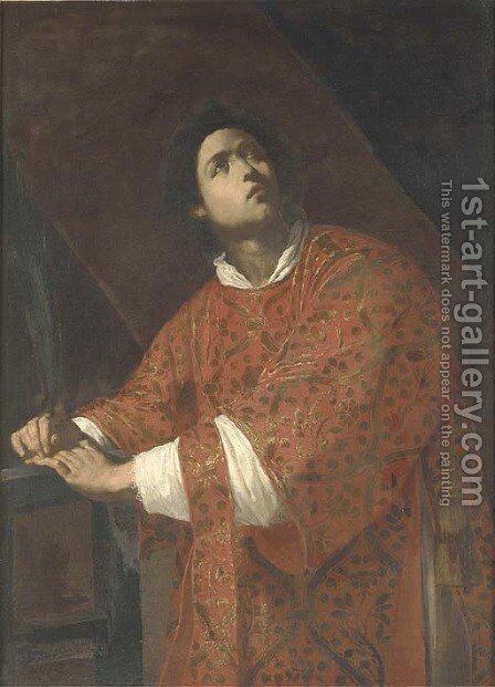 Saint Laurence by (after) Massimo Stanzione - Reproduction Oil Painting