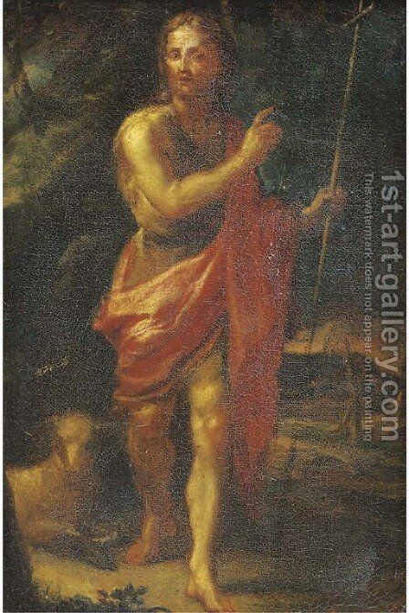 Saint John the Baptist by (after)  Mateo The Younger Cerezo - Reproduction Oil Painting