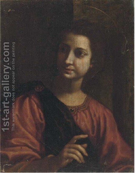 A female saint by (after) Matteo Rosselli - Reproduction Oil Painting