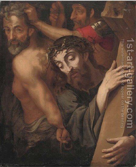 Christ on the Road to Calvary by (after) Michiel Van Coxie - Reproduction Oil Painting