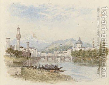 Florence from the Arno by (after) Foster, Myles Birket - Reproduction Oil Painting