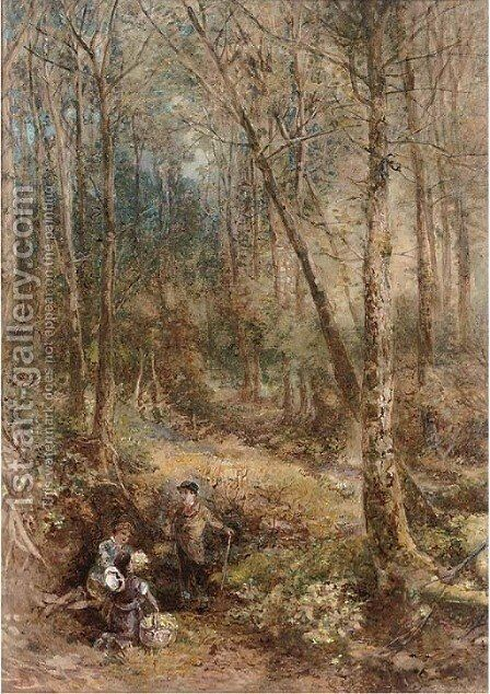 The primrose gatherers by (after) Foster, Myles Birket - Reproduction Oil Painting