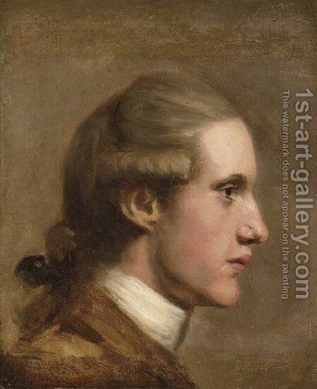 Portrait Of A Gentleman, Bust-Length In Profile, In A Brown Coat by (after) Dance Holland, Nathaniel - Reproduction Oil Painting