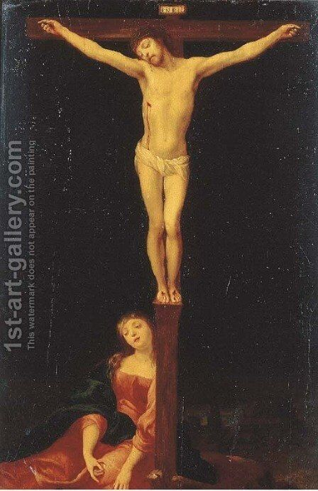 The Crucifixion by (after) Nicolaes Moeyaert - Reproduction Oil Painting