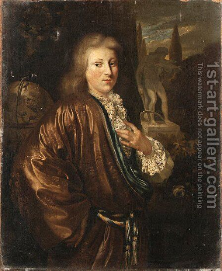 Portrait of a Gentleman by (after) Nicolaes Verkolye - Reproduction Oil Painting