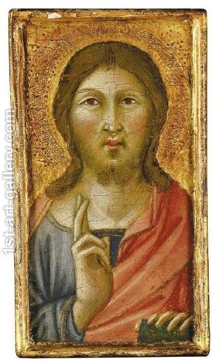 Salvator Mundi by (after) Niccolo Di Segna - Reproduction Oil Painting