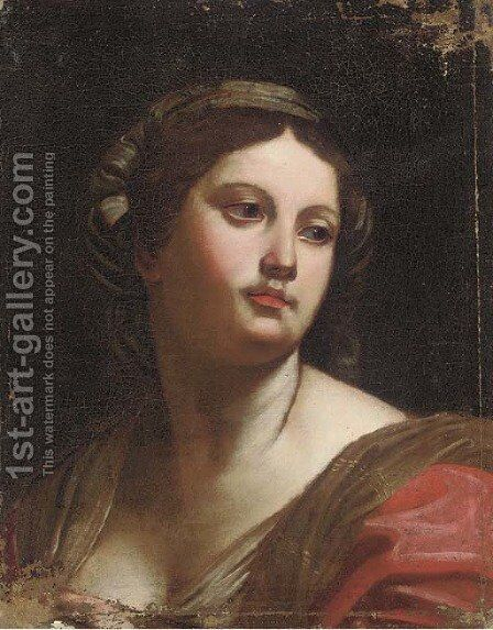 A sibyl by (after) Orazio Gentileschi - Reproduction Oil Painting