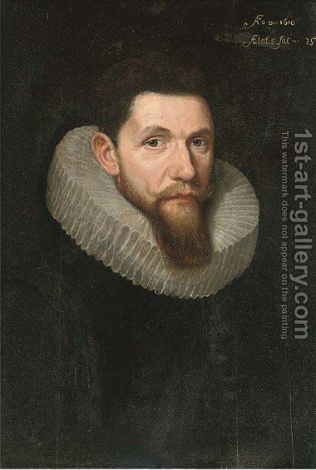 Portrait of a gentleman by (after) Otto Van Veen - Reproduction Oil Painting