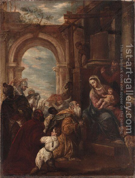 The Adoration of the Magi by (after) Paolo Veronese (Caliari) - Reproduction Oil Painting