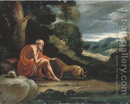 Saint Jerome in the Wilderness by (after) Paul Bril - Reproduction Oil Painting