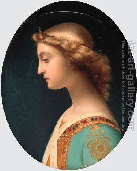 L'Ange Gabriel by (after) Paul Delaroche - Reproduction Oil Painting