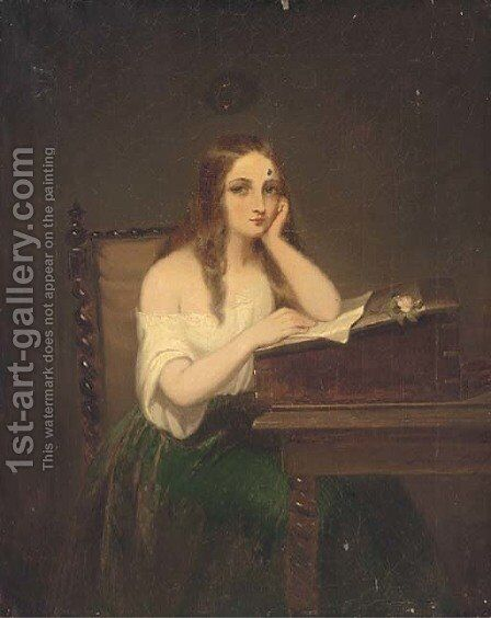 The love letter by (after) Paul Falconer Poole - Reproduction Oil Painting