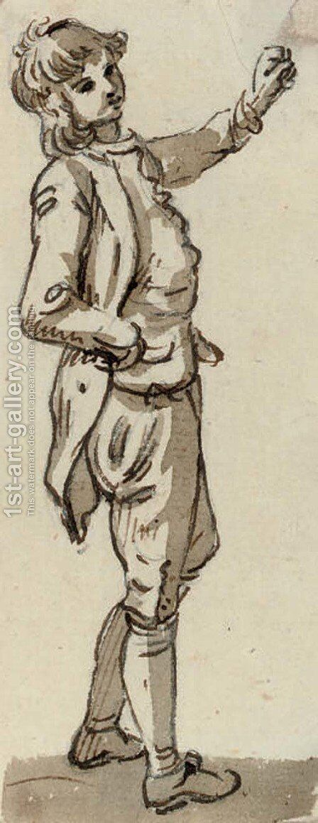 Study of a young man by (after) Paul Sandby - Reproduction Oil Painting