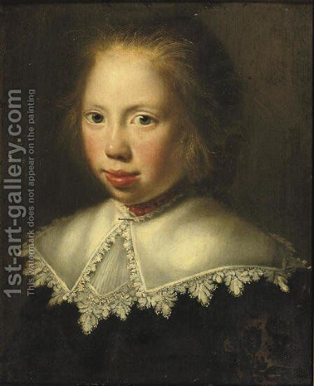 Portrait of a girl by (after) Paulus Moreelse - Reproduction Oil Painting