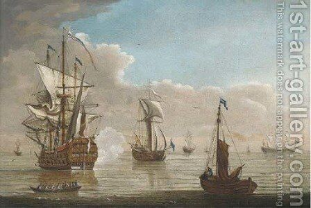 Saluting the Admiral by (after) Peter Monamy - Reproduction Oil Painting