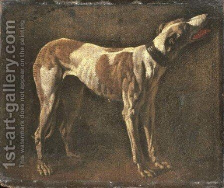 A greyhound by (after) Pieter Van Laer (BAMBOCCIO) - Reproduction Oil Painting