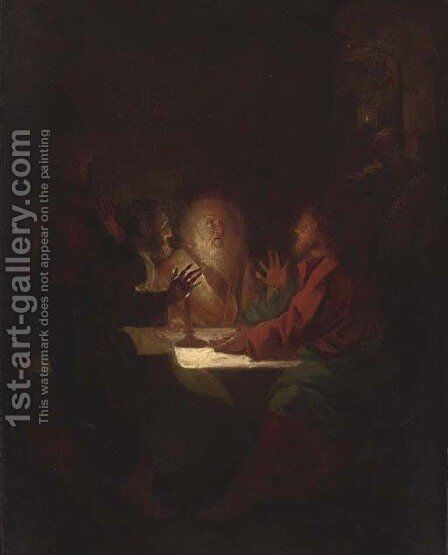 Supper at Emmaus by (after) Petrus Van Schendel - Reproduction Oil Painting