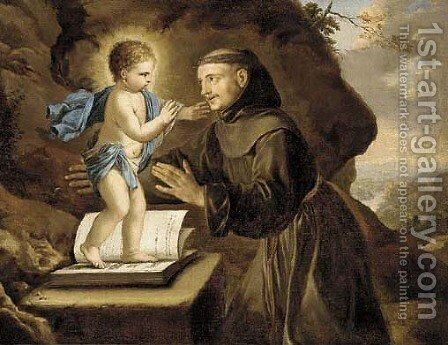 The vision of Saint Antony of Padua by (after) Philippe De Champaigne - Reproduction Oil Painting
