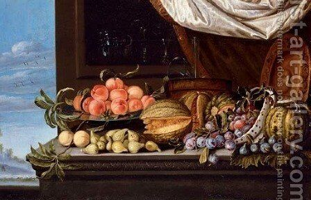 Fruits by (after) Pierre Dupuis - Reproduction Oil Painting