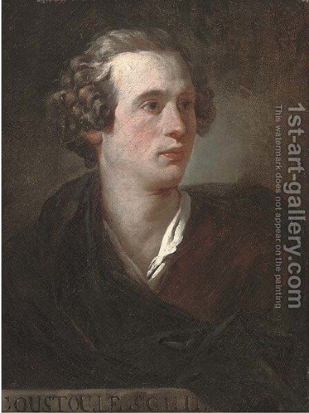 Portrait of Guillaume Coustou II (1716-1777) by (after) Pierre Subleyras - Reproduction Oil Painting