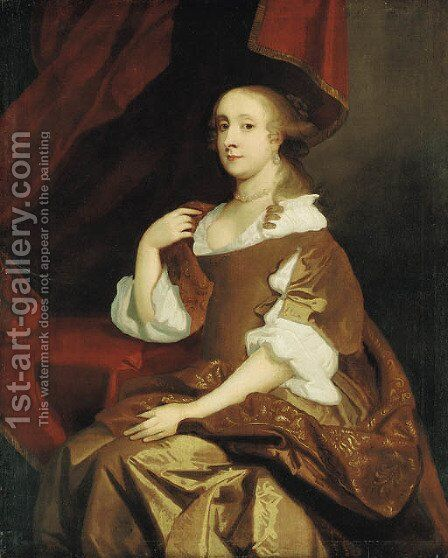 Portrait of Lady Mary Bruce by (after) Pieter Borsselaer - Reproduction Oil Painting
