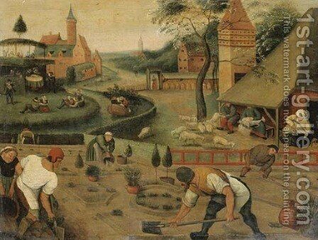 An allegory of spring by (after) Pieter The Younger Brueghel - Reproduction Oil Painting