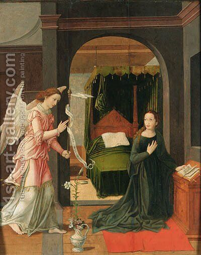The Annunciation by (after) Pieter Coecke Van Aelst - Reproduction Oil Painting