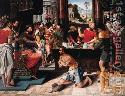 The Parable of the Unmerciful Servant by (after) Pieter Coecke Van Aelst - Reproduction Oil Painting