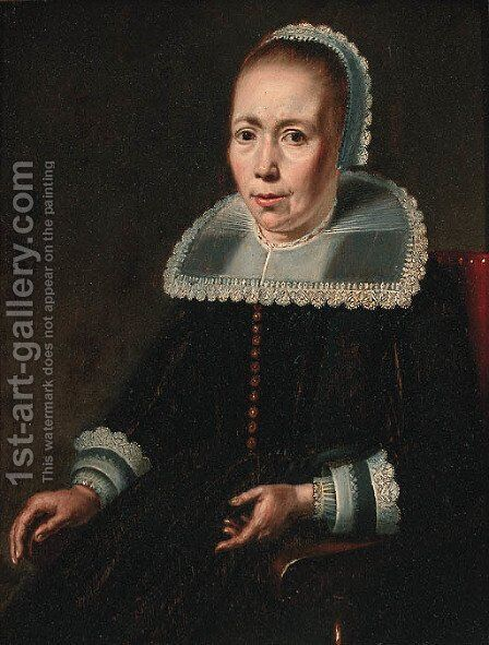 Portrait of a lady by (after) Pieter De Grebber - Reproduction Oil Painting