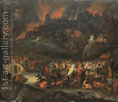 Purgatory by (after) Pieter Huys - Reproduction Oil Painting