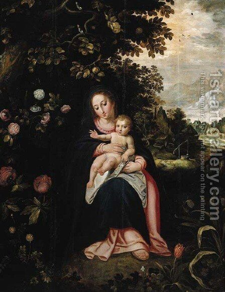 The Rest on the Flight into Egypt by (after) Pieter Van Avont - Reproduction Oil Painting