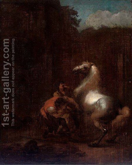 A farrier by (after) Pieter Van Bloemen - Reproduction Oil Painting