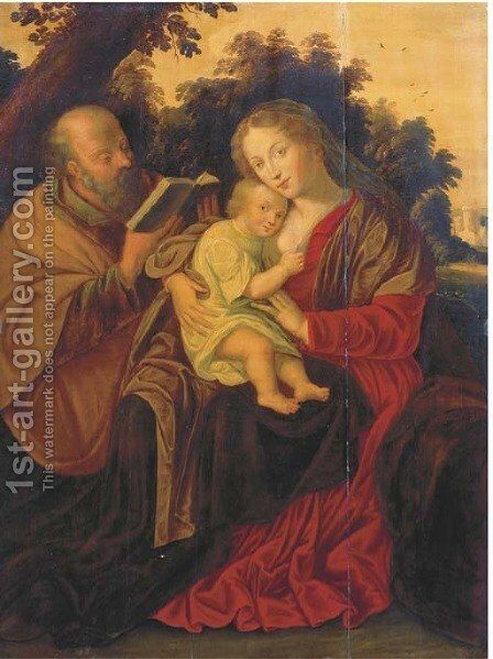 The Rest on the Flight into Egypt by (after) Pieter Van Mol - Reproduction Oil Painting