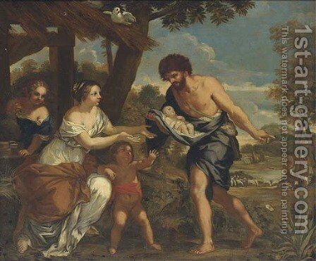 The Finding of Romulus and Remus by (after) Cortona, Pietro da (Berrettini) - Reproduction Oil Painting