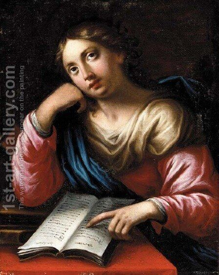 A female Saint by (after) Pietro Dandini - Reproduction Oil Painting