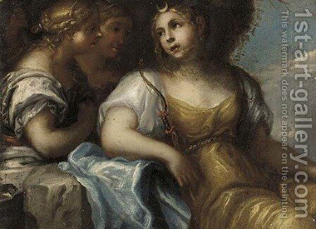Diana and her nymphs by (after) Pietro Liberi - Reproduction Oil Painting
