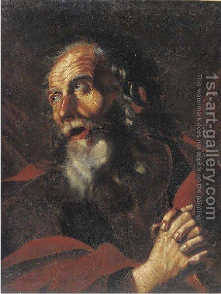Saint Peter by (after) Pietro Novelli - Reproduction Oil Painting