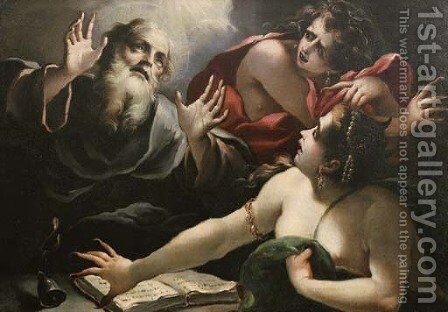The Temptation of Saint Anthony of Padua by (after) Pietro Ricchi - Reproduction Oil Painting