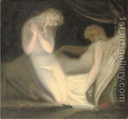 Cupid and Psyche by (after) Richard Westall - Reproduction Oil Painting